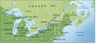 canadian map with great lakes custom maps great lakes map