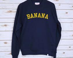 banana sweater banana sweater etsy