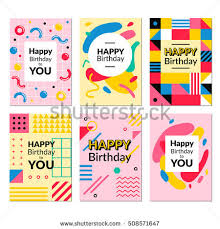 valentines day greeting cards set trendy stock vector 560983717