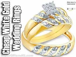 cheap white gold wedding bands his and hers wedding bands white