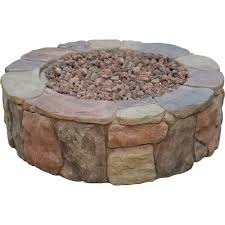 Outdoor Gas Fire Pit Kits by Hampton Bay Petra 36 In Round Envirostone Propane Fire Pit