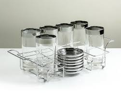 wedding registry for men vintage silver band glasses set of eight 8 with
