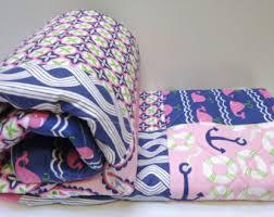Girls Ocean Bedding by Rag Quilt Baby Woodland Crib Bedding Mint Pink Navy