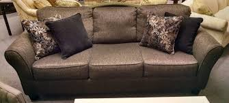 gray tweed sofa 4 toss pillows delmarva furniture consignment
