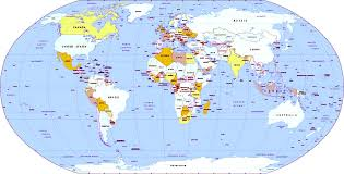 map continents map of world continents travel
