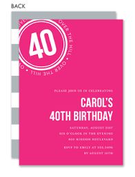 40th birthday invitations 40th birthday invitations the
