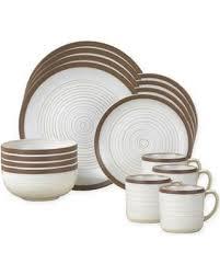 savings on pfaltzgraff 16 dinnerware set in white