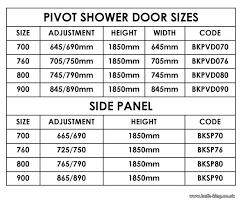 Standard Shower Door Sizes Standard Pivot Shower Door Sizes Shower Doors