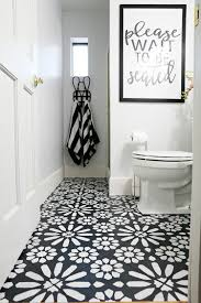 Diy Bathroom Flooring Ideas Diy Painted Bathroom Floor It S The Owner S Take On A Tile Joanna