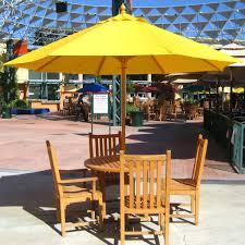 Umbrella Side Table Patio Ideas Patio Light Brown Round Modern Wooden Small Patio