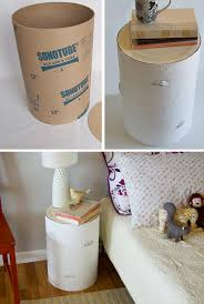 diy birch nightstand from a sonotube