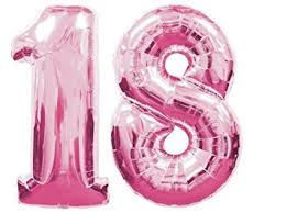 balloons for 18th birthday qualatex 34 number 1 and 8 pink foil balloons 18th birthday by