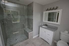 Gray And Tan Bathroom - traditional 3 4 bathroom with undermount sink u0026 simple granite in