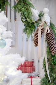 decorations for stair rail lighted garland clearance