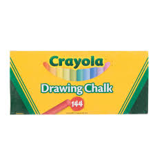 crayola 510400 24 assorted colors drawing chalk 144 box