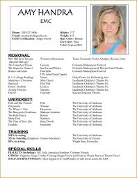 Resume Acting Template by Actor Resume Template Horsh Beirut