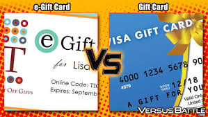 e giftcard e gift card vs gift card which is a better gift versusbattle