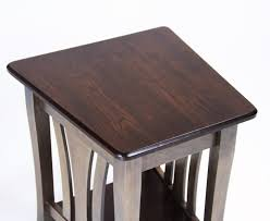 metro large wedge table amish made metro end table country