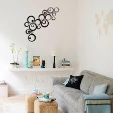modern diy 3d silver mirror geometric circle ring acrylic wall