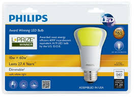 philips 423244 10 watt 60 watt l prize award winning led light