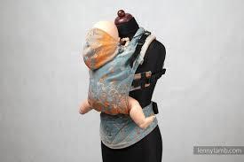 ergonomic carrier baby size jacquard weave 100 cotton wrap