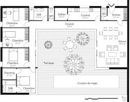 plan maison plain pied 4 chambres avec suite parentale plan maison en u avec 4 chambres ooreka con plan maison plain pied 4
