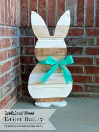 Easter Decorations Big Lots by Reclaimed Wood Easter Bunny Easter Projects Fun Diy And Easter