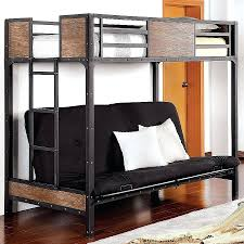 Wood And Metal Bunk Beds Loft Bed With Futon Underneath Desk Bunk And Storage Wood Chair