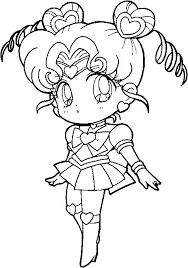 sailor moon coloring pages venus chibi coloringstar