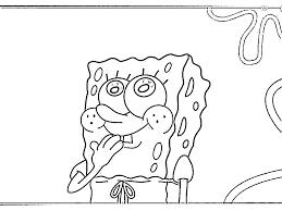 sponge bob eating burger coloring pages gianfreda net