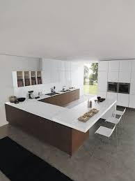 Kitchen With Center Island U Shaped Kitchen With Center Island Mosaic Tile Backsplash