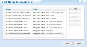 customizing lockdown program menu templates