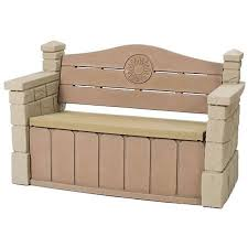 Outdoor Storage Box Bench Step2 Outdoor Storage Bench Walmart Com