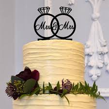 mrs and mrs cake topper wedding cake topper decoration mrs mrs diamond ring