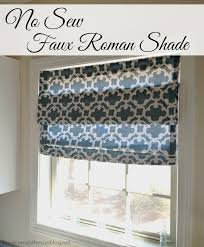 How To Make A No Sew Window Valance No Sew Faux Roman Shade Here Comes The Sun