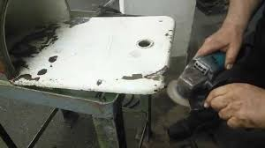 how to fix an old cast iron sink youtube