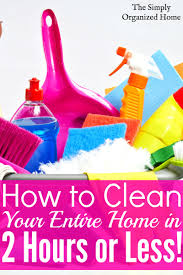 The Organized Home by Speed Cleaning Checklist Clean Your Home In 2 Hours Or Less