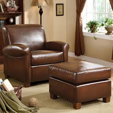 Best Leather Chair And Ottoman Adorable Leather Chair With Ottoman Metropolitan Faux Brown
