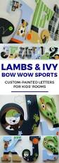 lamb and ivy bow wow sports and dog themed hand painted