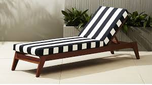 Black Chaise Lounge Filaki Black And White Striped Chaise Lounge In Accent Chairs
