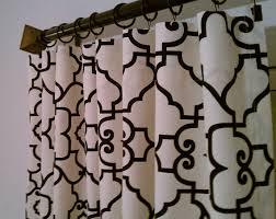 Lattice Design Curtains Black Trellis Lattice Quatrefoil Curtains Rod Pocket