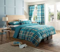 teal check with stripe reverse duvet set quilt cover u0026 pillow