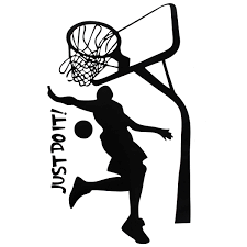 Sports Home Decor Just Do It Basketball Wall Decal Diy Removable Sports Home Room
