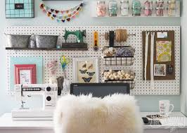 Diy Craft Room Ideas - a craft room office pegboard gallery wall with video tour the
