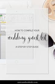 Best Wedding Guest List Template Best 20 Wedding Guest List Ideas On Pinterest Guest List