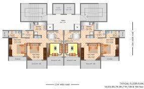 Podium Floor Plan by Floor Plan Keshav Builders Keshav Winds At Kharghar Navi Mumbai
