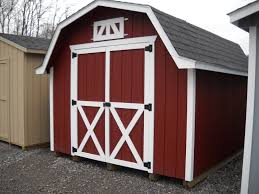 10x12 5 u0027 sidewall barn in red white barn style sheds mini