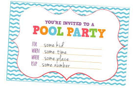 creative pool invitations free printables