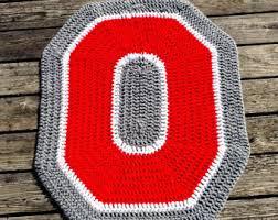 Ohio State Runner Rug Crochet Rug Etsy