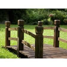 ringhiera in legno per giardino ponte in legno per giardino e laghetto artificiale lunghezza 150 cm
